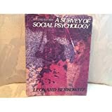 A Survey of Social Psychology, Berkowitz, Leonard, 0030427312