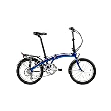 Dahon Mu D10 Tour Dusty Blue Folding Bike Bicycle w/Rack, Fenders and Post Pump