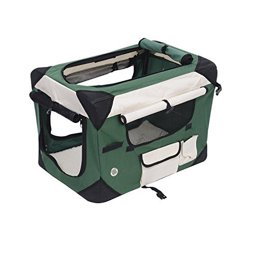 Pawhut Sided Folding Crate Carrier