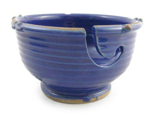 Anthony Stoneware Handmade Yarn Bowl, Royal Blue