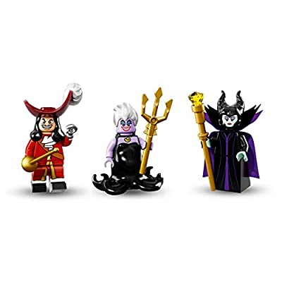 LEGO Captain Hook, Ursula, Malificent Minifigures Disney: Toys & Games