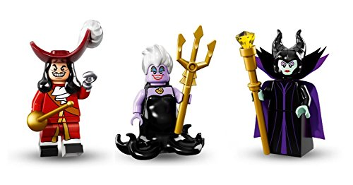Lego Captain Hook, Ursula, Malificent Minifigures Lego Disney ()