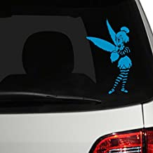 """Tinker Bell Goth Car Decal, Light Blue, 8"""" H x 5"""" W, Die Cut Vinyl Decal For Windows, Cars, Trucks, Tool Box, Laptops, Macbook- Virtually Any Hard, Smooth Surface"""