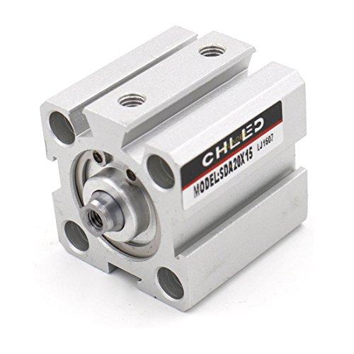 Baomain Compact Thin Air Cylinder SDA 20-15 20mm Bore 15mm Stroke M5 - 15 Mm Cylinder
