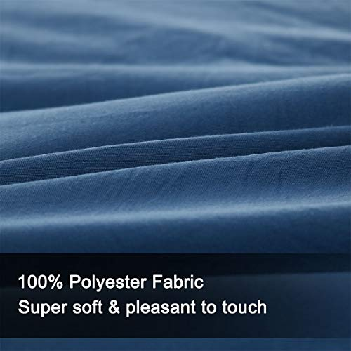 PiccoCasa Twin Blue 100% Washed Cotton Quilted Comforter - Duvet Insert/Stand Along Comforter - Reversible Design - Machine Washable - 68 by 88 inches by PiccoCasa (Image #5)