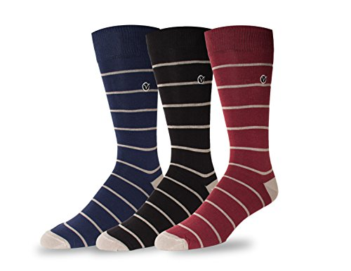 SIMPLE Vybe 3-pack Thin Stripe (Fancy Dress Boots)
