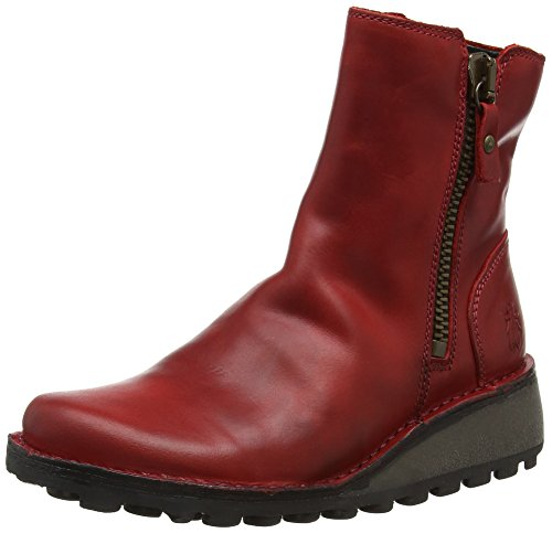 Fly Rojo Botas Para Mujer Mon944fly red London q1A0a1SfW