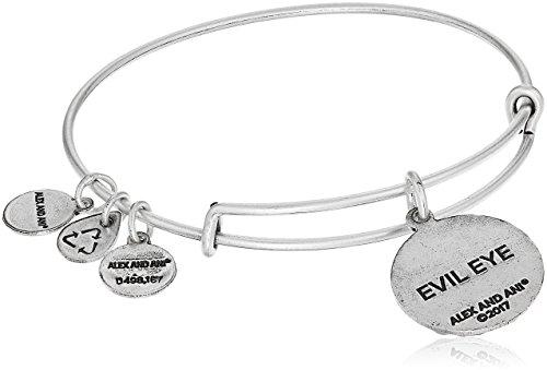 Alex and Ani Evil Eye Bangle Bracelet, Rafaelian Silver, Expandable by Alex and Ani (Image #2)