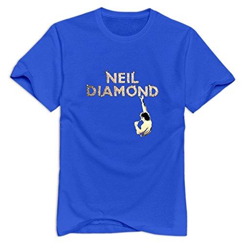 Neil Diamond Men T-Shirts Size XX-Large RoyalBlue