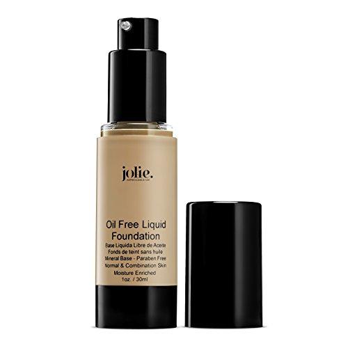 Jolie Oil Free Liquid Foundation - Matte Finish (Warm (Warm Silk Liquid Minerals Makeup)