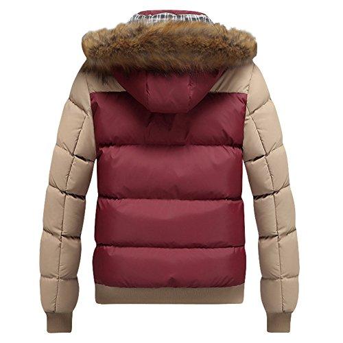 Moda Capispalla Inverno Uomo Giacche Red Cappotti Outwear Sciare Ragazzi Hibote khaki Parka Cappuccio Spessore Pelliccia Caldo dO0gxEdqHw