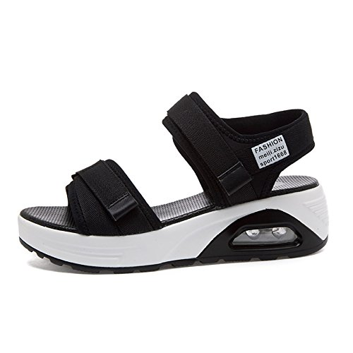 Women Students Platform Sandals Shoes Flat New Black Xing Summer Slope Bottomed Leisure Ladies Sandals Lin Women'S With Sports nwPWcYCqF
