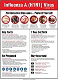 Accuform PST423 Safety Banners & Posters H1N1 (Swine Flu) AWARENESS POSTER Option: Spanish-Mexican 24''x18''