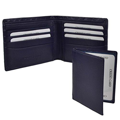 Bi Blue Italian Woven Gift Blue Fold Hansson Mens LEATHER Wallet Venezia by Italia Box Otw5qtdp