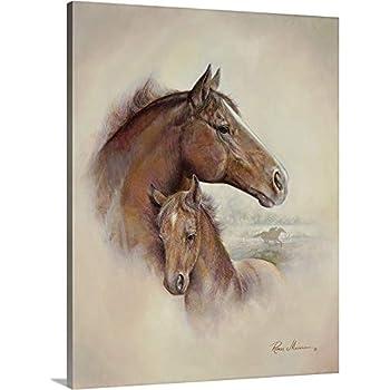 11e2ab438 Ruane Manning Premium Thick-Wrap Canvas Wall Art Print Entitled Race Horse  II 24