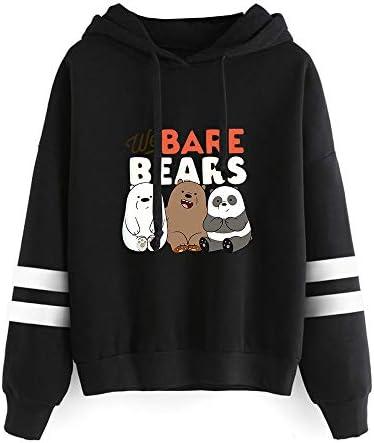 Ukaopjge We Bare Bears Sudaderas con Capucha Suéter Acogedor con Capucha Estampado Simple Sudadera con Capucha Casual Unisex We Bare Bears Sudaderas
