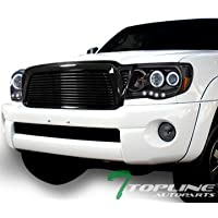 Topline Autopart Black Horizontal Billet Style Front Hood...