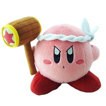 "Official Nintendo Kirby aventura de peluche – 6 ""Kirby martillo (japonés ..."