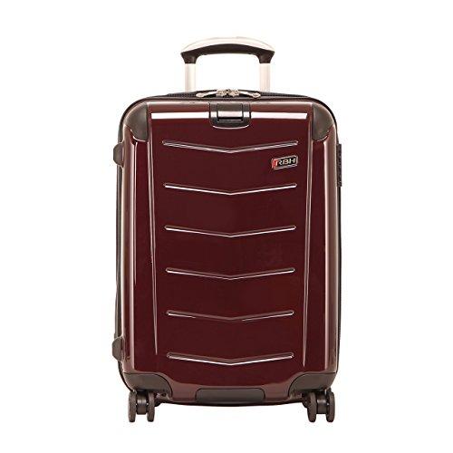 Luggage 4 Expandable Wheel (Ricardo Beverly Hills Luggage Rodeo Drive 21-Inch 4-Wheel Expandable Wheelaboard, Black Cherry, One Size)
