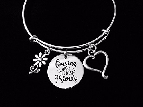 Cousins Make the Perfect Best Friends Adjustable Bracelet Expandable Charm Bracelet Bangle Gift Personalization Options Available