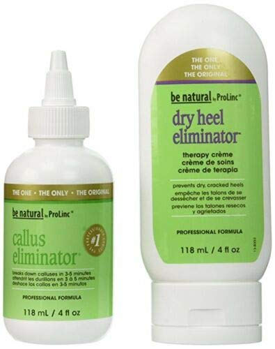 Callus Eliminator Bundle: Callus Eliminator 4oz. and Dry Heel Eliminator 4oz (Best Callus Remover Gel)