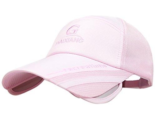 Price comparison product image Anti-UV Sports Fashion Sun Visor Hat Scalable Brim PeakTennis Cap Unisex Summer Sun Hat Outdoor Hat Baseball Cap Mesh Sports Hats Pink
