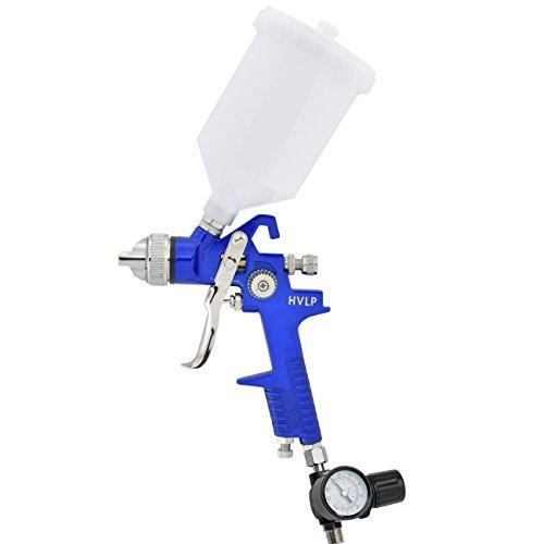 hiltex 31224 hvlp gravity feed air spray gun with gauge 1. Black Bedroom Furniture Sets. Home Design Ideas