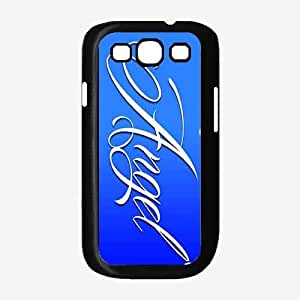 Angel on Blue Background- Plastic Phone Case Back Cover Samsung Galaxy S3 I9300