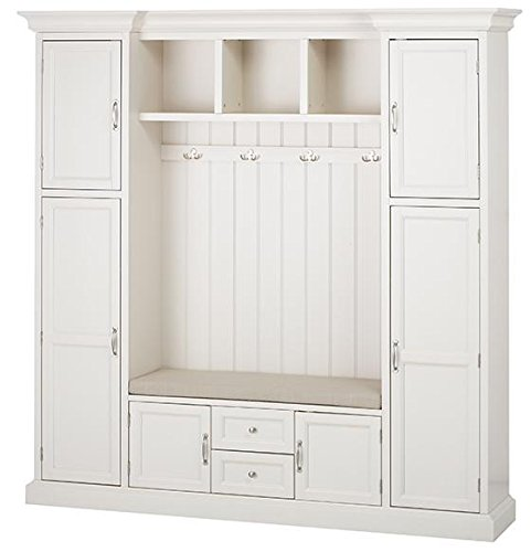 royce all in one mudroom large polar white   buy online