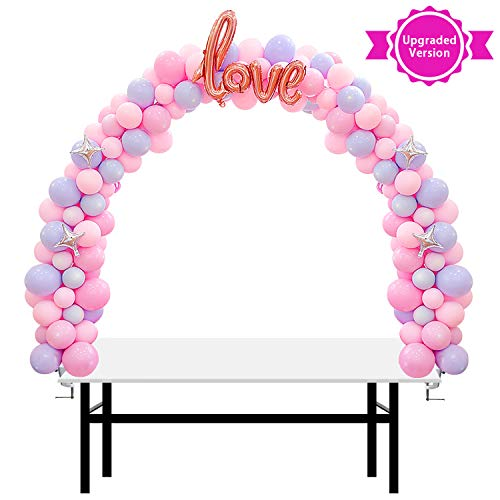 13Ft Adjustable Balloon Arch Stand Kit, New Reusable Table balloon arch kit with base High Strength Glass Fiber Pole for DIY Party Wedding Birthday Baby Shower Xmas Festival Decorations