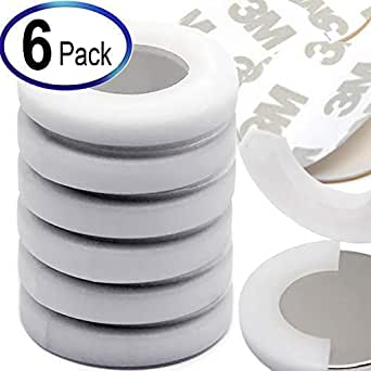 """Neodymium Magnets Disc Dia 1.26x1/8"""" w/ 3M Adhesives, Super Strong Rare Earth Magnets Discs in Non-Shattering Package for Fridge, Crafts, Door, Levitation & DIY. Home & Office Applications. 6 Sets"""