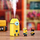 Mist Minion Humidifier Eye Glows in the Dark, 250 ML for Kids Room, Bathroom, Office, Dorm, Kitchen