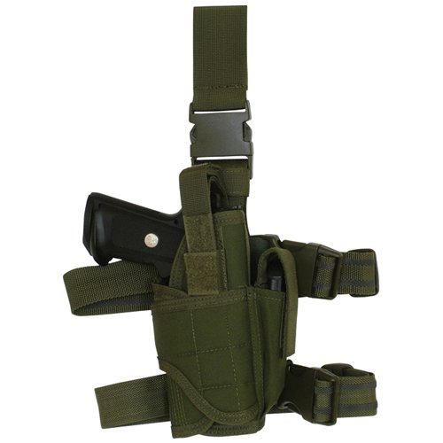 (Fox Outdoor Products Commando Tactical Holster, Olive Drab, Left)