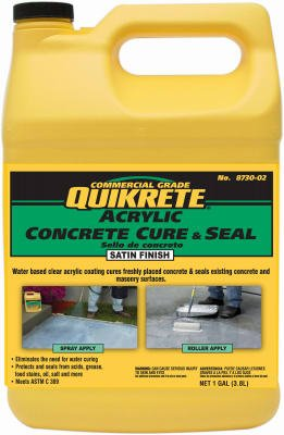 Quikrete Acrylic Concrete Cure & Seal, 1 Gallon, Satin Finish