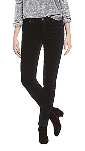 BUFFALO David Bitton Womens Velvet Stretch Skinny Pant (Black, 6/28)