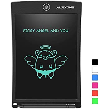 AURXONS LCD Writing Tablet Electronic Writing Drawing Doodle Board Erasable 8.5-Inch Handwriting Paper Drawing Tablet for Kids Adults at Home School Office Black