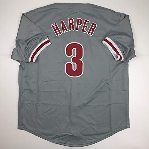 Unsigned Bryce Harper Philadelphia Grey Custom Stitched Baseball Jersey Size Men's XL New No Brands/Logos