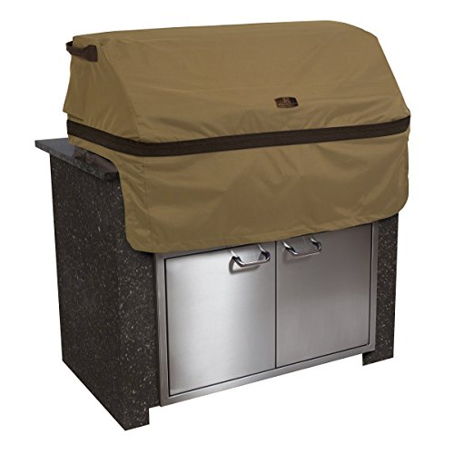 (Classic Accessories Hickory Cover For Built-In Grills, Medium, Tan)