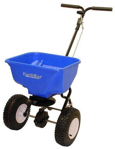 Earthway 2130 Commercial High-Output Snow and Ice Melt Spreader With 65-Pound Capacity And Pneumatic Wheels EV-N-Spred