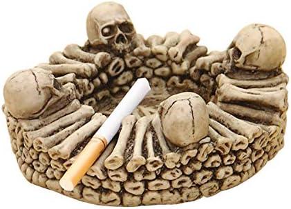 灰皿 , 頭蓋骨の形の樹脂の灰皿の創造的な人格の灰皿の灰皿の装飾品の家のギフト多機能