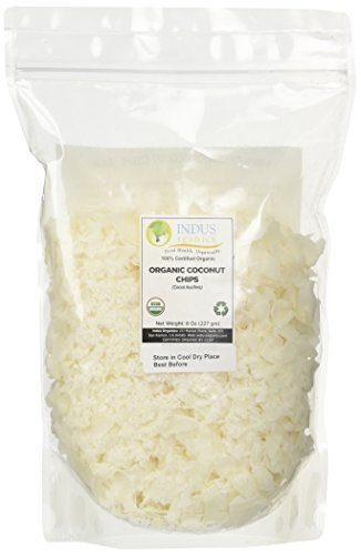 Gluten Free Rice Pudding (Indus Organics Dried Coconut Chips/shreds, Raw, 8 Oz Bag, Premium Grade, No Added Sugar, Freshly Packed)