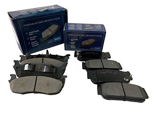 FRONT + REAR Mitti Disc Brake Pads 2 Complete Sets Fit Mazda MPV 2004-2006