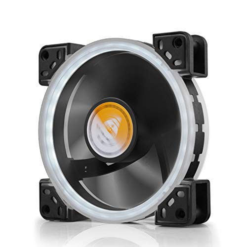 Solar Halo Ultra Quiet Bearing 120mm LED Fan for Computer Case CPU Cooler