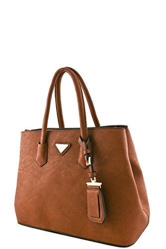 womens-designer-faux-leather-rear-zipper-pocket-top-handle-bag-va2003-brown