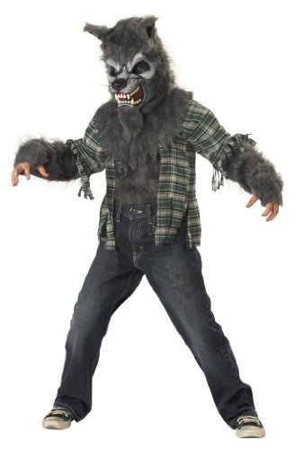 Halloween Wolf Costume Kids (California Costumes Toys Howling at The Moon, Medium)