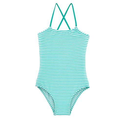 Vilebrequin Stripped Terry One Piece - Girls - Lagoon - 6Yrs by Vilebrequin