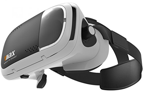Magicoo, VR Glasses, 3D Virtual Reality Headset Ajust Cardboard VR BOX Compatible for IOS/Android the Screen Size between 4.5'-6.5' Smartphones with Adjustable Lens and T-shaped Straps