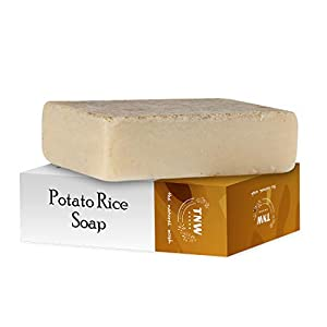 TNW-THE NATURAL WASH Handmade Potato Rice Soap Reduces Tanning & Pigmentation-Diminishes Dark Spots-Minimizes Open Pores…