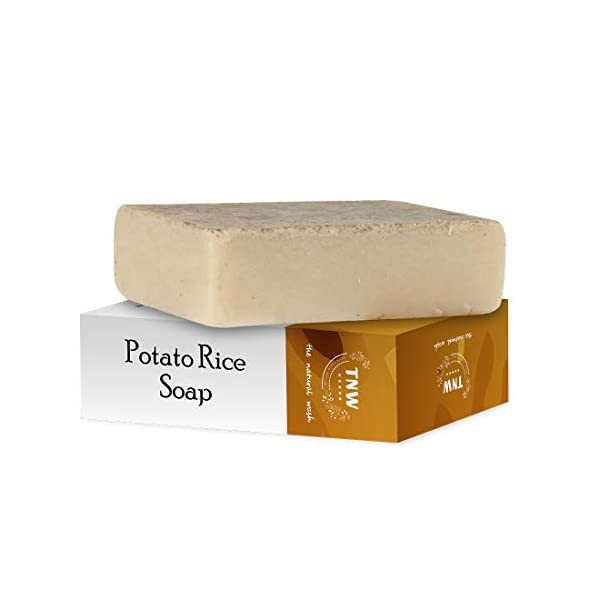 TNW-THE NATURAL WASH Handmade Potato Rice Soap For Tanning and Pigmentation For Oily Skin - Pack of 6 Each - 100 g 2021 June Potatoes are the most frequently eaten vegetables and have a wide range of benefits as the nutrients it contains. A blend of potato and rice will make you pick this soap bar. Rice is not only a staple food for mankind, but also beneficial to nourish and make the skin clean. Aids to eliminate excess oil secretion Diminish the tanning layered on the skin