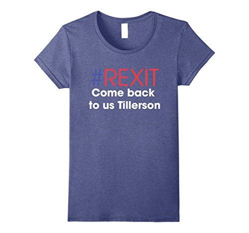 Womens #Rexit Secretary of State - It's time Tillerson - Resign Medium Heather Blue
